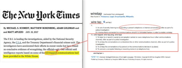 New York Times Wire Tapping