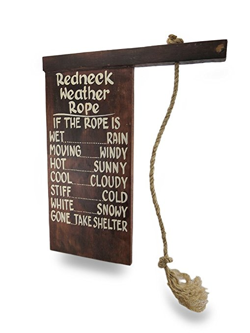 Sign Of The Day: Redneck Weather Rope