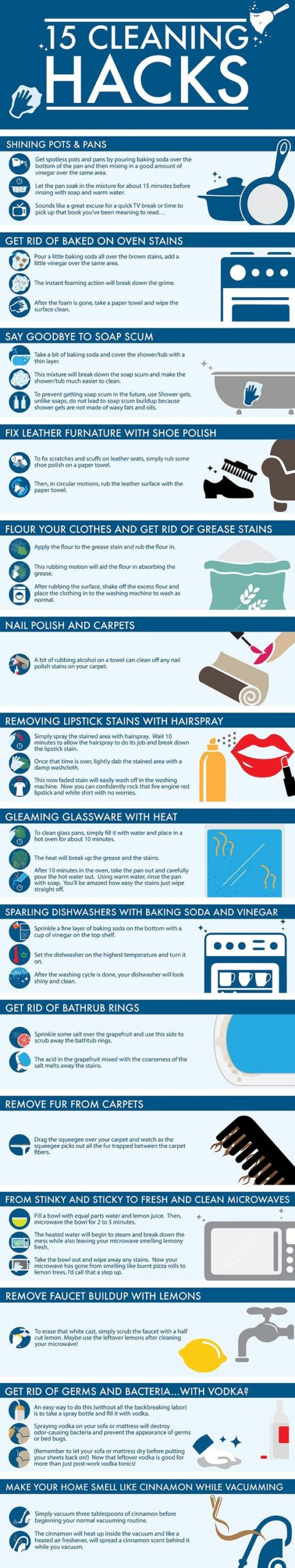 15 Cleaning Hacks