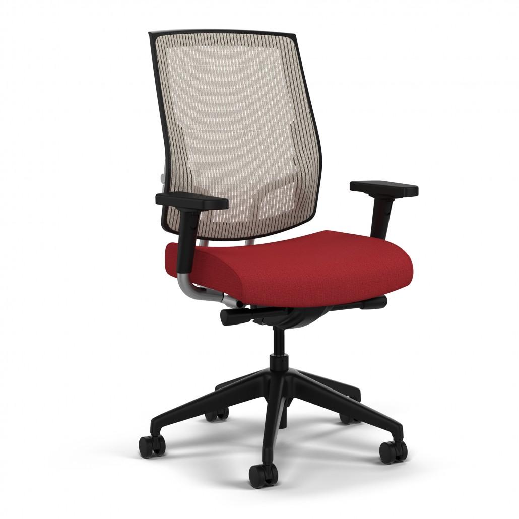 raynor eurotech ergohuman mesh mid back task chair black white chairs for sale common sense office furniture orlando fl