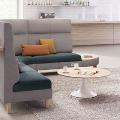 Grey Upholstered Chair White Legs Desk Red Collaborative Seating - Common Sense Office Furniture