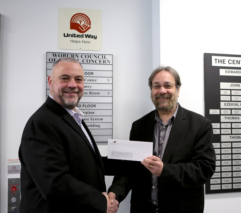 James McCorkle presenting Dean Solomon with check