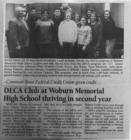 Congratulations to DECA at WMHS as They Continue to Thrive!
