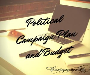 Political Campaign Plan and Budget
