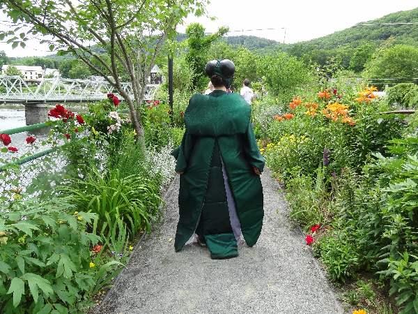 Giant Emerald Ash Borer on the Bridge of Flowers