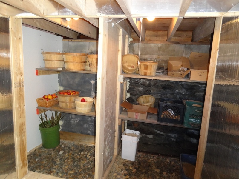 Heath root cellar - end of season
