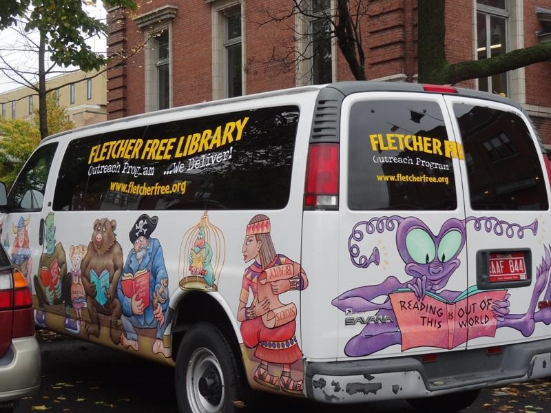 Fletcher Free Library book van
