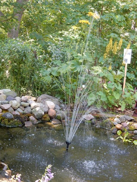Ruth's splashing fountain