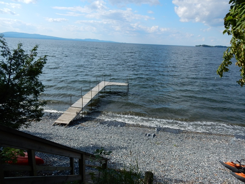 The stony beach at the North End