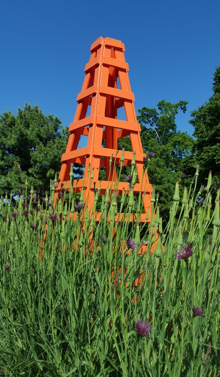 Plant support at Tower Hill Botanic Garden