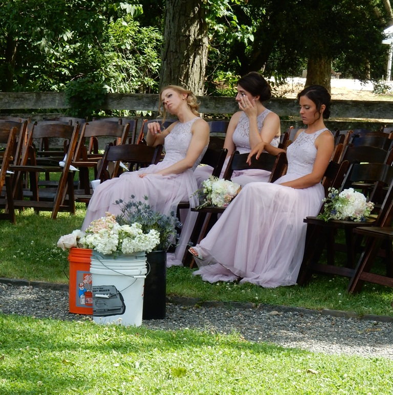Bridesmaids in waiting