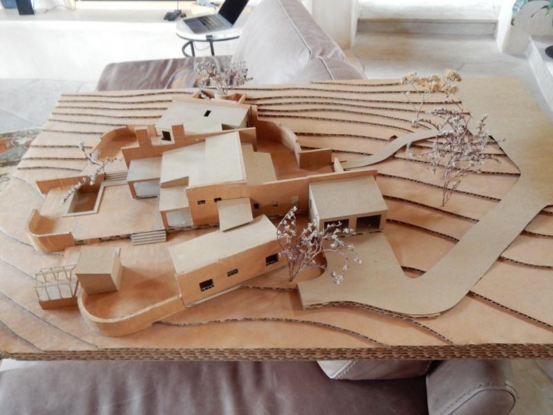 Model of the Stocker's Austin house