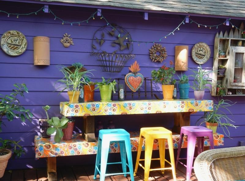 Lucinda Hutson's patio