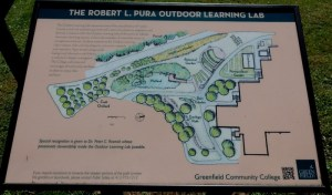 Map of the Outdoor Learning Lab