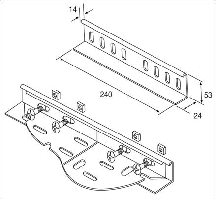 Unistrut TUH/WCPG Unistrut Cable Tray Heavy Duty With Wrap
