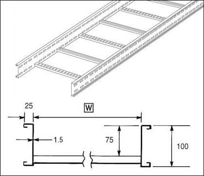 Unistrut U10L3150H Unistrut U10 Cable Ladder 100mm(h) 3M