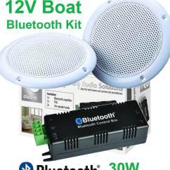 Marine Amplifier Wiring Kit 11 Pin Latching Relay Diagram 12v Boat Bluetooth Waterproof Speakers B425bl B5