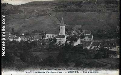 Mesnay 39600 Jura  la ville Mesnay sa mairie et son village sur Communescom