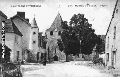 MonteldeGelat 63380 PuydeDme  la ville MonteldeGelat sa mairie et son village sur