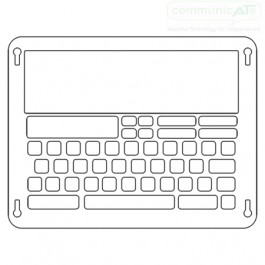 iPad keyguard for Verbally AAC App, Communicate AT