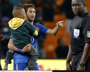 Neymar showed Charisma in South Africa