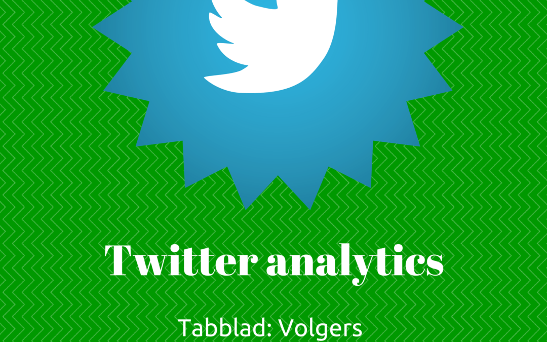 Twitter analytics: Volgers