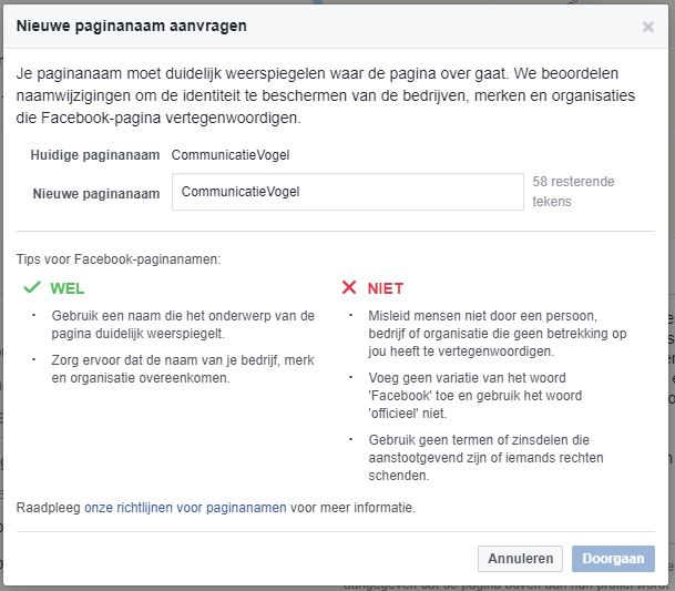 Facebook naam wijzigen 2