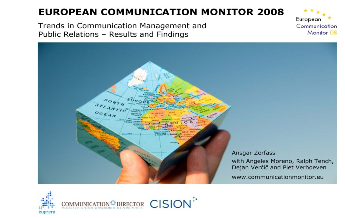 ECM European Communication Monitor Report 2008 Corporate Communication Public Relations
