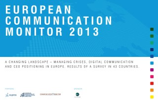 ECM European Communication Monitor Report 2013 Crises Communication Digital Communication CEO Reputation Positioning