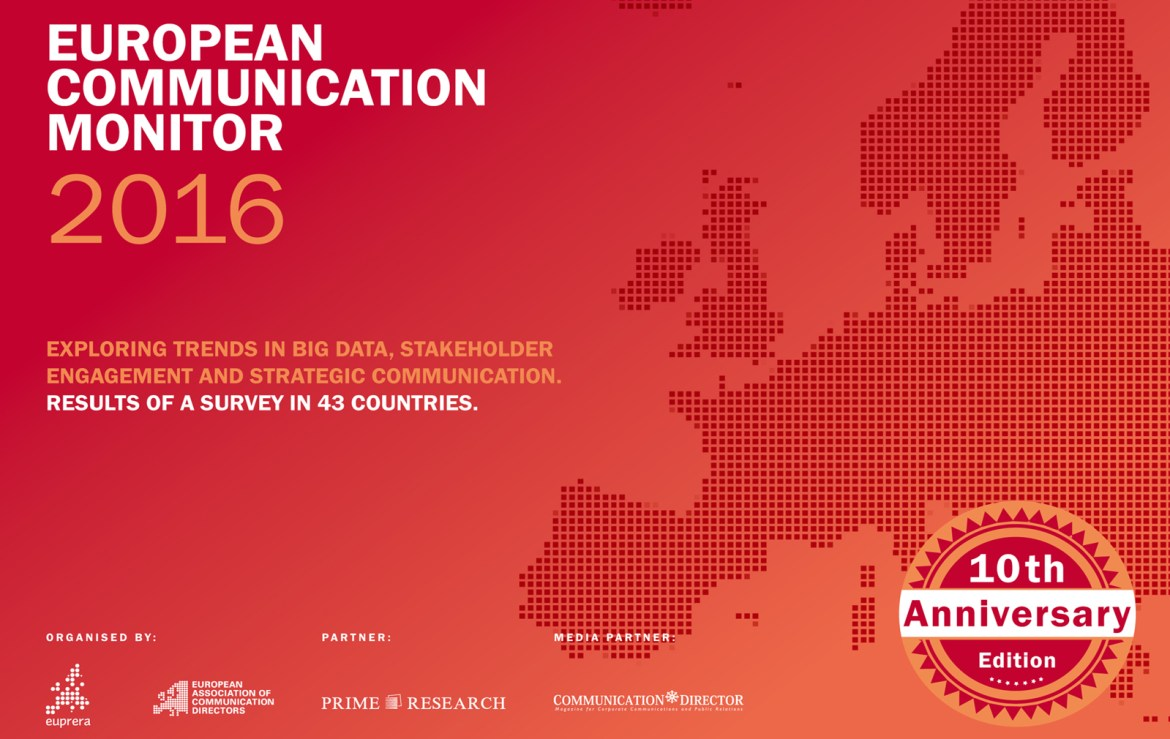ECM European Communication Monitor Report 2016 Big Data Stakeholder Engagement Strategic Communication