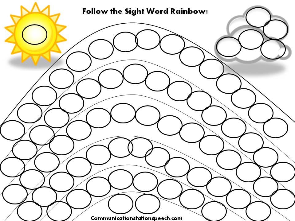 FREEBIE Friday: Follow the Sight Word Rainbow