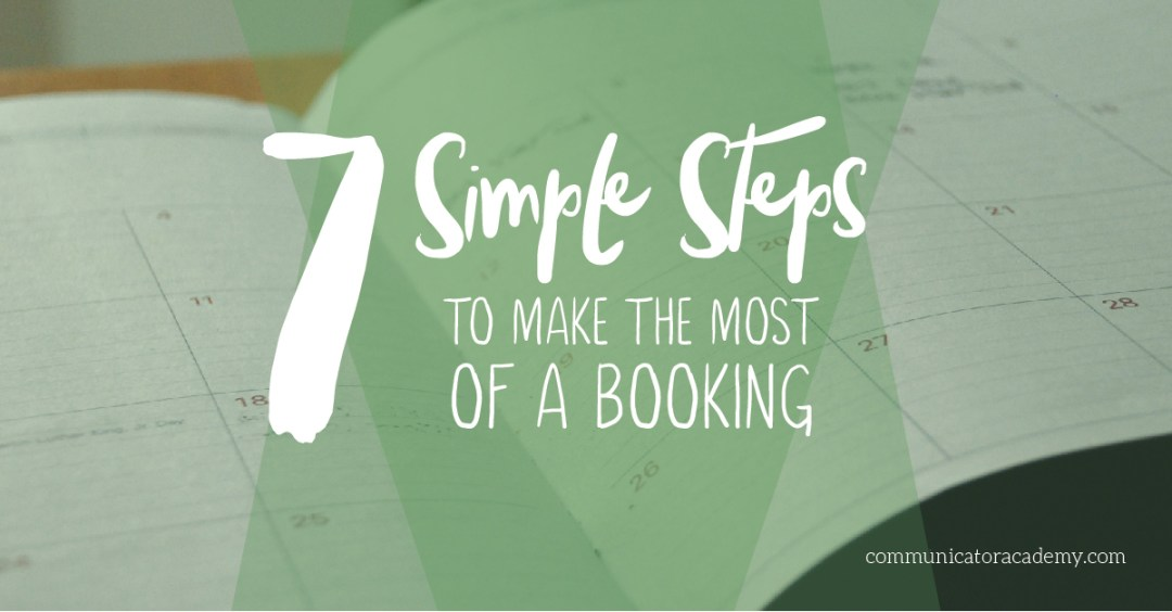 make the most of a booking