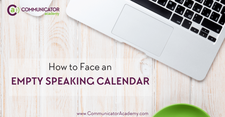 Empty Speaking Calendar