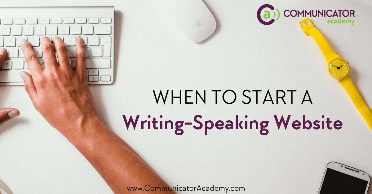 When Does a Pre-Author, Pre-Speaker Need a Website and Blog?