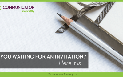 Are You Waiting for an Invitation? Here It Is…