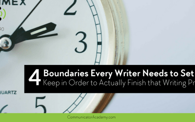 Eps: #90: 4 Boundaries Every Writer Needs to Set and Keep in Order to Actually Finish that Writing Project