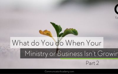 160 What Do You Do When Your Ministry or Business Isn't Growing? Pt 2