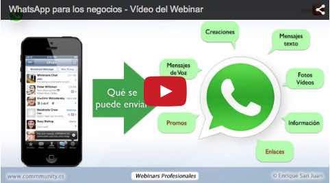 WhatsApp para los negocios Enrique San Juan Video Webinar