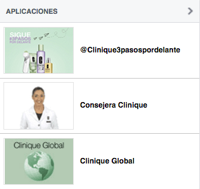 aplicaciones clinique facebook analisis community internet