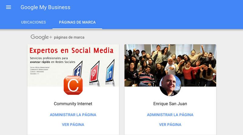 como administrar las paginas de empresa en google plus enrique san juan community internet seminarios social media redes sociales marketing digital