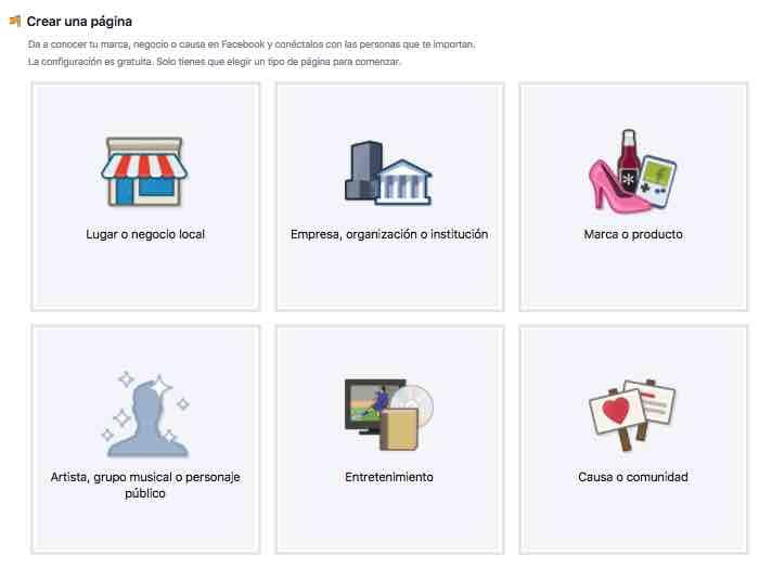 como crear pagina facebook community internet