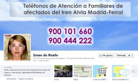 como ha gestionado Renfe la crisis del accidente de Santiago en Facebook community internet redes sociales social media