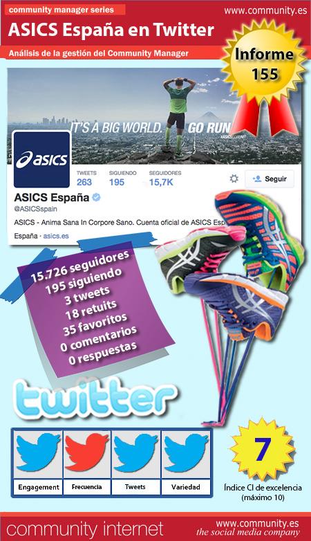 infografia asics espana twitter community internet the social media company