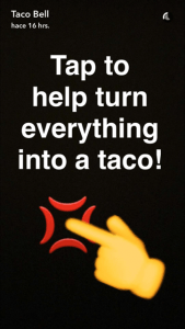 taco bell snapchat analisis community internet 22