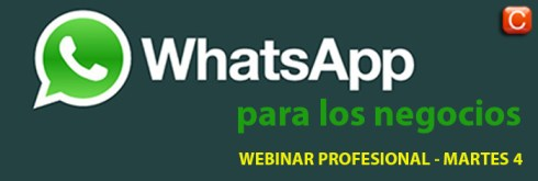 webinar profesional WhatsApp para los negocios Community Internet the social media company
