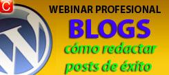 webinar profesional blogs como redactar posts exitosos redes sociales community internet social media