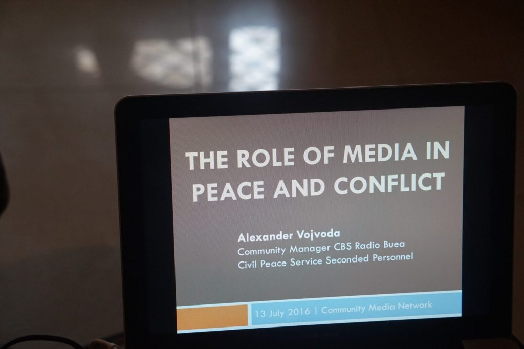 "Keynote of Alexander Vojvoda on ""The role of media in peace and conflict"""