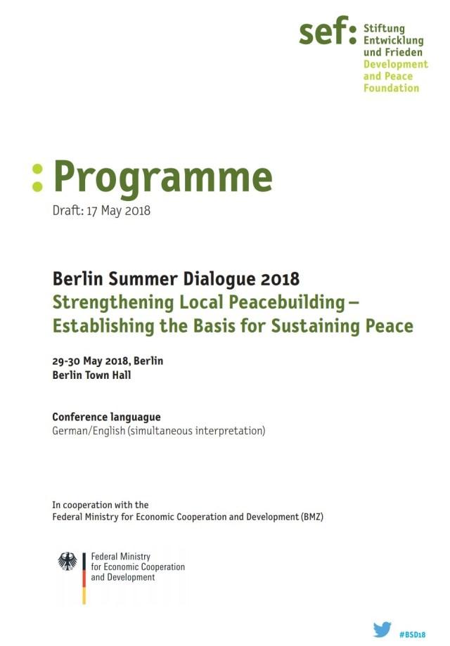Programme Berlin Summer Dialogue 2018