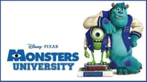 The movie Monsters University will be featured.