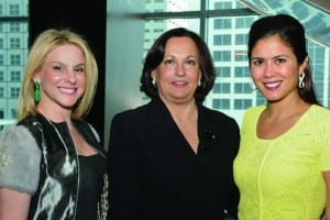 Pictured (l-r) are event chair Yury Rossi, Jackson Health Foundation Board chair Silvia Rios-Fortun, and event chair Nina Miguel.
